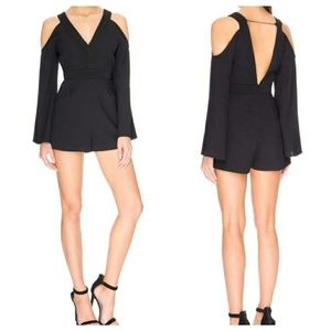 Keepsake In Motion Cold Shoulder romper playsuit